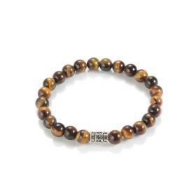 8mm Tigers Eye Stone Beaded Stretch Bracelets for Men