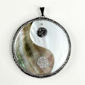 Mother of Pearl Shell Yin Yang Tai Chi Charms Pendant