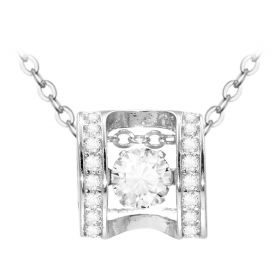 S925 Sterling Silver Lock Necklace Lock My Promise Cubic Zircon Pendant Necklace Gifts