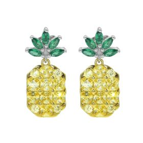 925 Sterling Silver Pineapple Earrings Fashion Simple Stud Earrings for Women