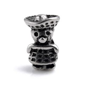Stainless Steel Cute Shape Spacer DIY Big Hole Beads for Jewelry Making Fit For Pandora Bracelet Charms