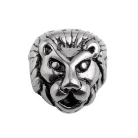 Stainless steel Animal Leopard Head Beads Charms Spacer Beads for Bracelet Jewelry Making