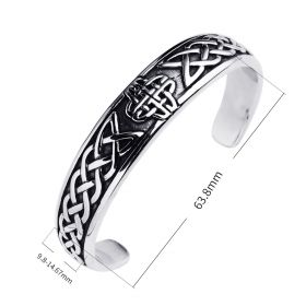 Men and Women Bracelet & Bangle Stainless Steel Bracelet Carved Jewelry