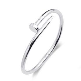 Trendy Stainless Steel Silver  Bangle Screwdriver Bracelet Women Men Screw Bangles