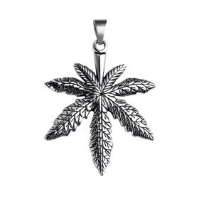 Maple Leaf Shape Antique Stainless Steel Pendant for Hip-hop Male Decorations No chains