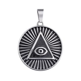 Latest Design Unique Stainless Steel Jewelry Evil Eye Pendant for Men's DIY Accessories