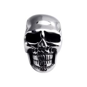 Skull Stainless Steel European Beads Jewelry Finding Solid Spacer Beads for Bracelet Large Hole