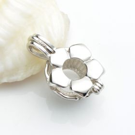 Flower Cage 925 Sterling Silver Love Wish Pearl Pendant