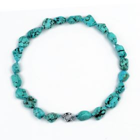 Beauty Irregular Turquoise Beaded Necklace for Girls Gift Jewelry