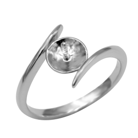 Simple Elegant Jewelry of 925 Silver DIY Pearl Ring Mounting/Accessories