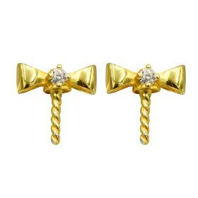 High Luster 925 Silver Gold color Earring Stud Round Pearl Earring finding /mounting