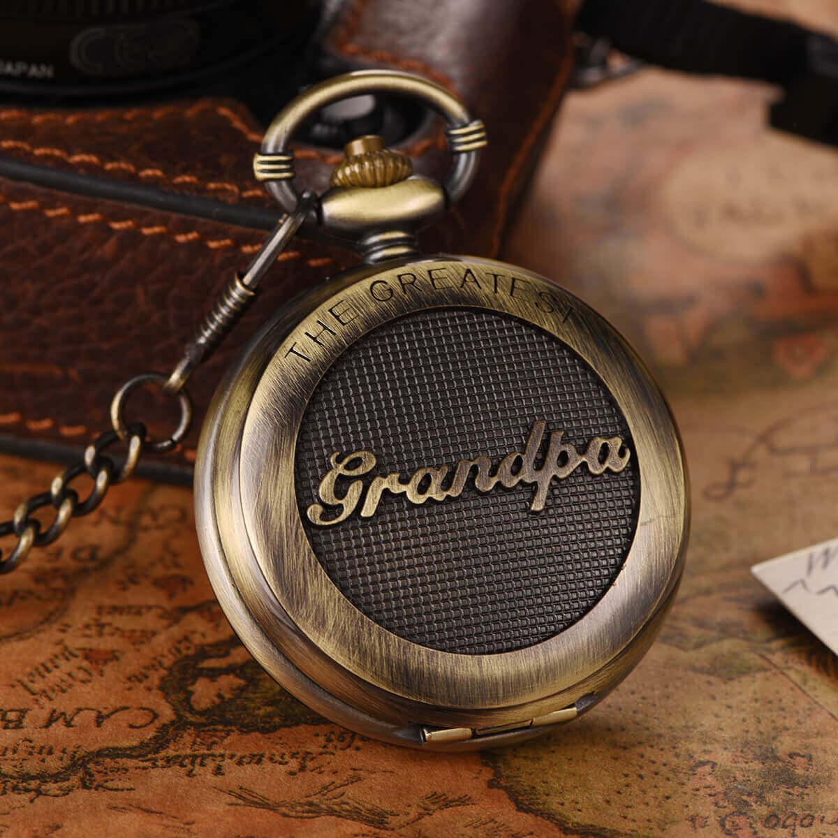 greatest grandpa gift pocket watch