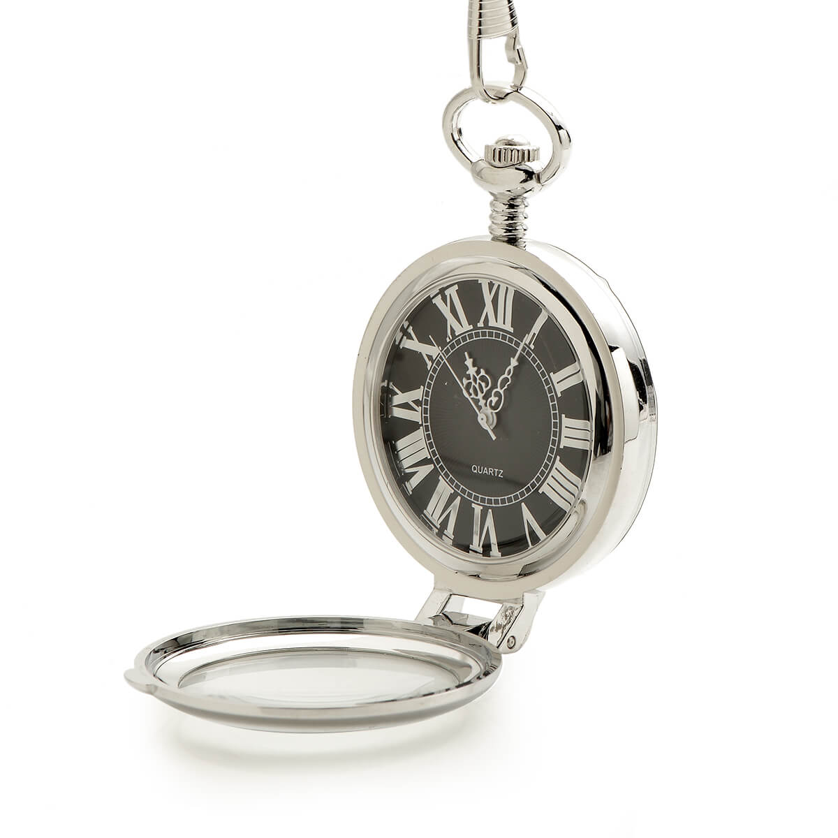 silver personalized pocket watch