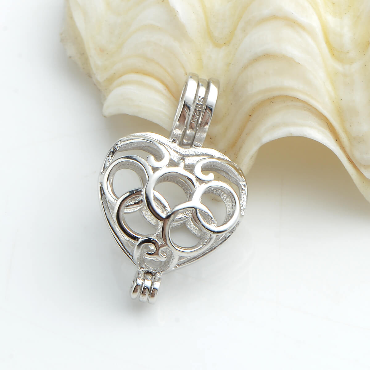 Olympic Heart Cage 925 Sterling Silver