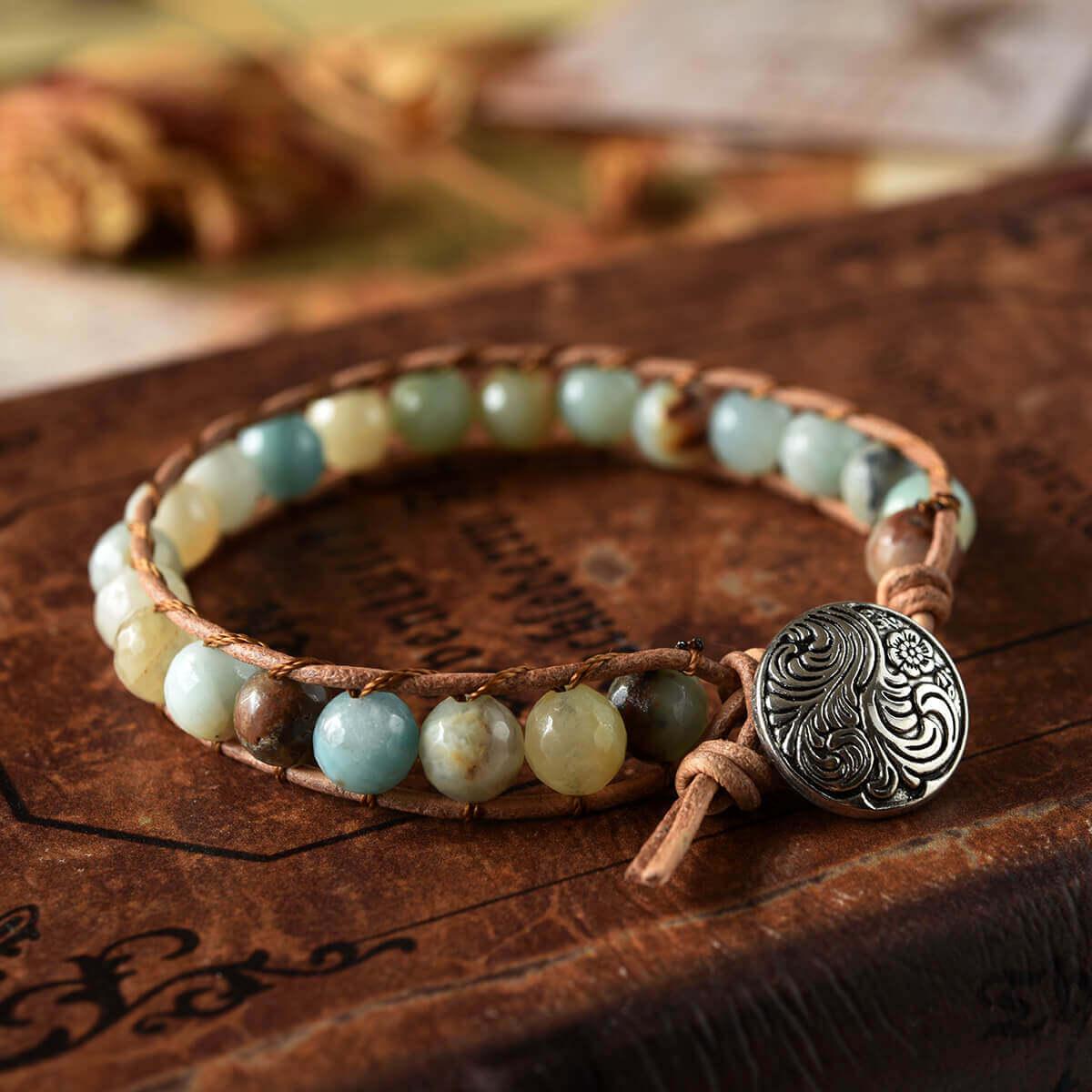 Charm Leather Wrap Bracelet